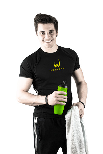 Daniel Zangerl, Personal Trainer im Workout - Fitnessstudio & Sportartikel T-Shirt